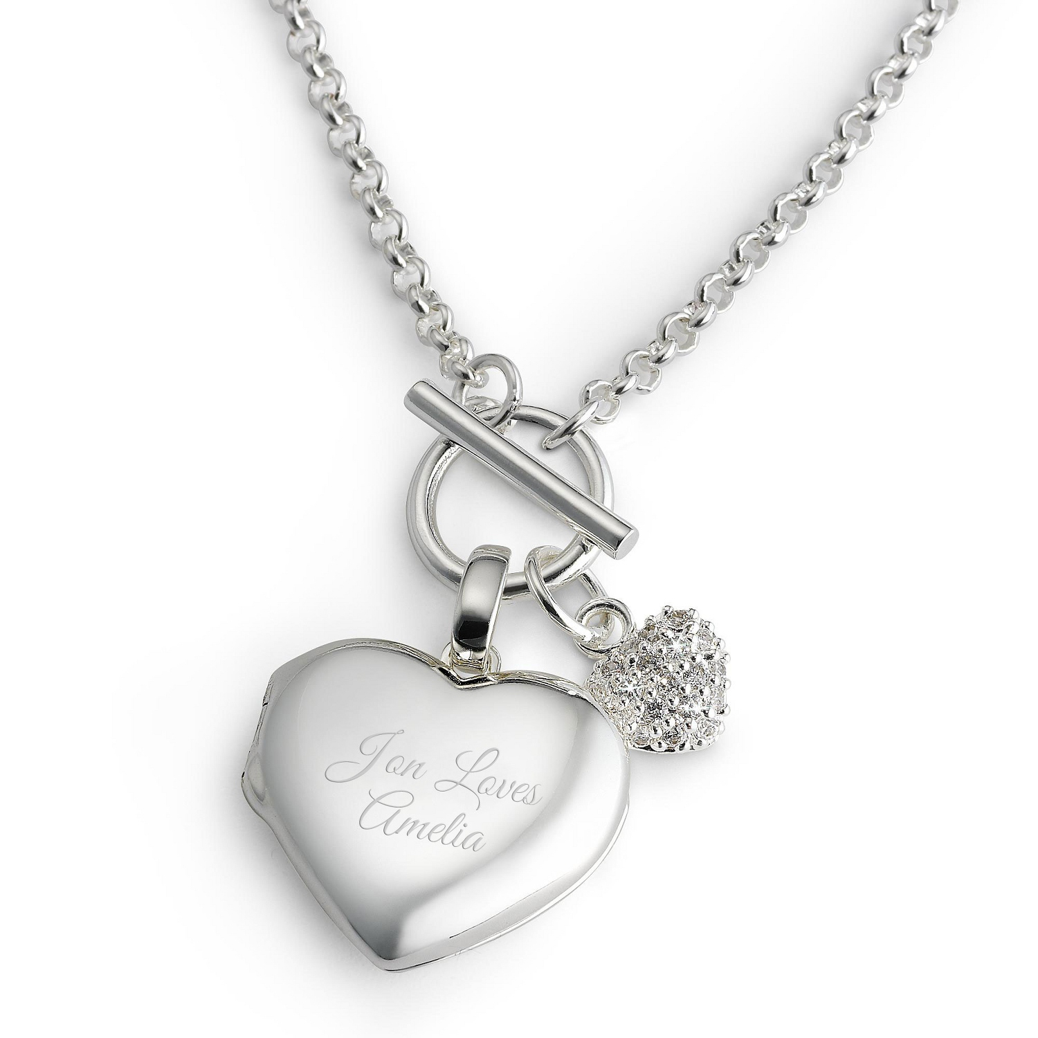 silver lockets p necklace engraved locket heart asp personalised sterling