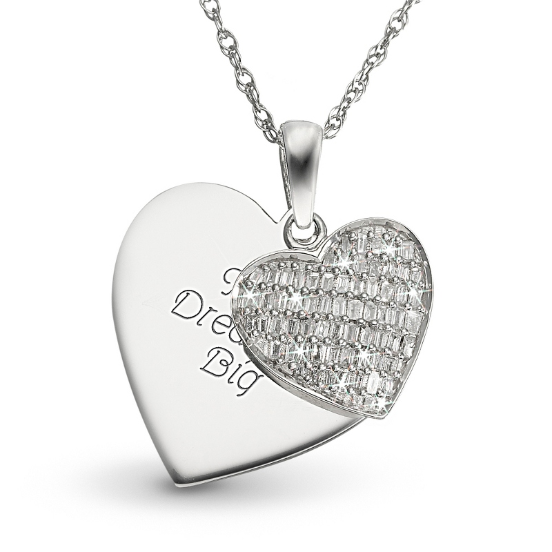 0.25 Ct. Diamond Pave Heart Necklace
