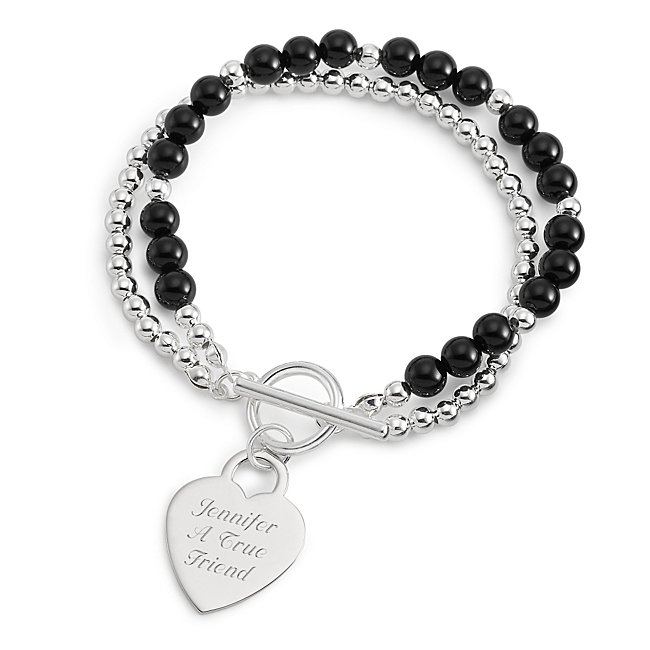 Personalized Black Agate...