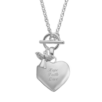 Angel Toggle Locket
