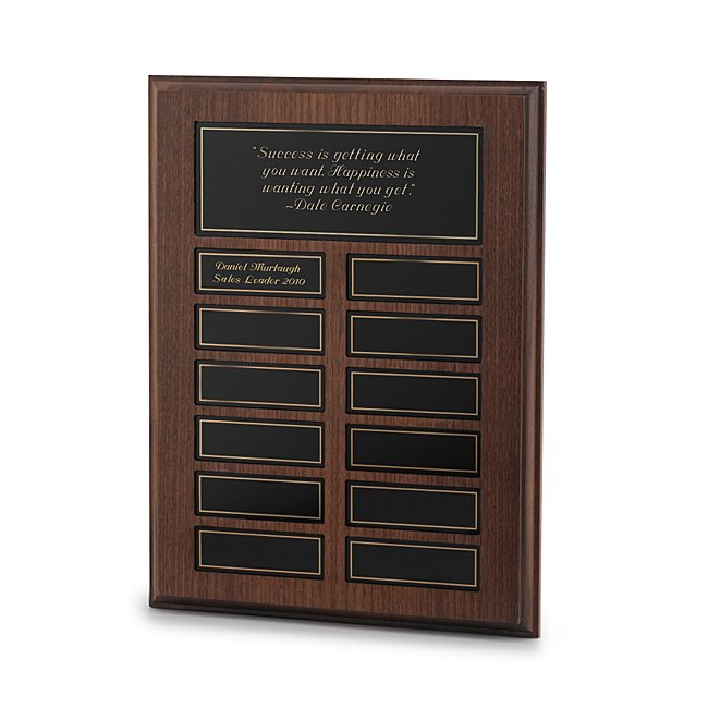Employee Recognition Plaque