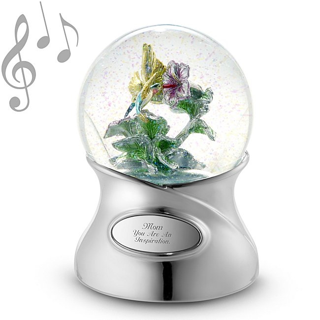 Shimmering Brilliance Hummingbird Musical Snow Globe - Home Decor - Her Gifts - Personalized At Things Remembered
