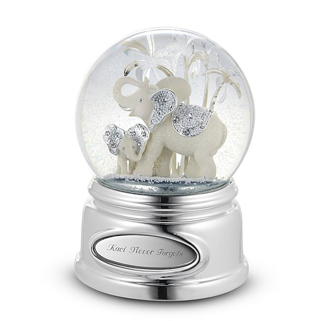 Image of Personalized Elephant Musical Snow Globe