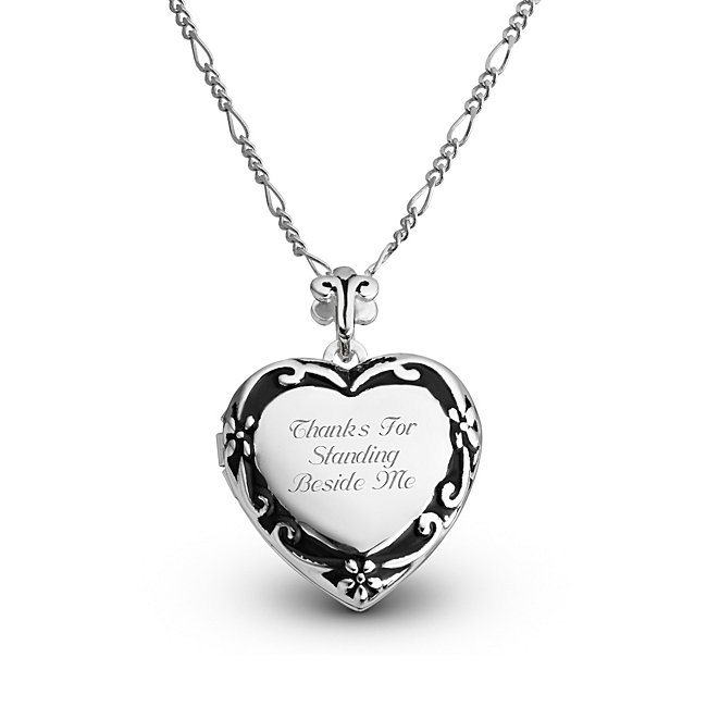 Expressions Scroll Heart Locket with complimentary Filigree Heart Box