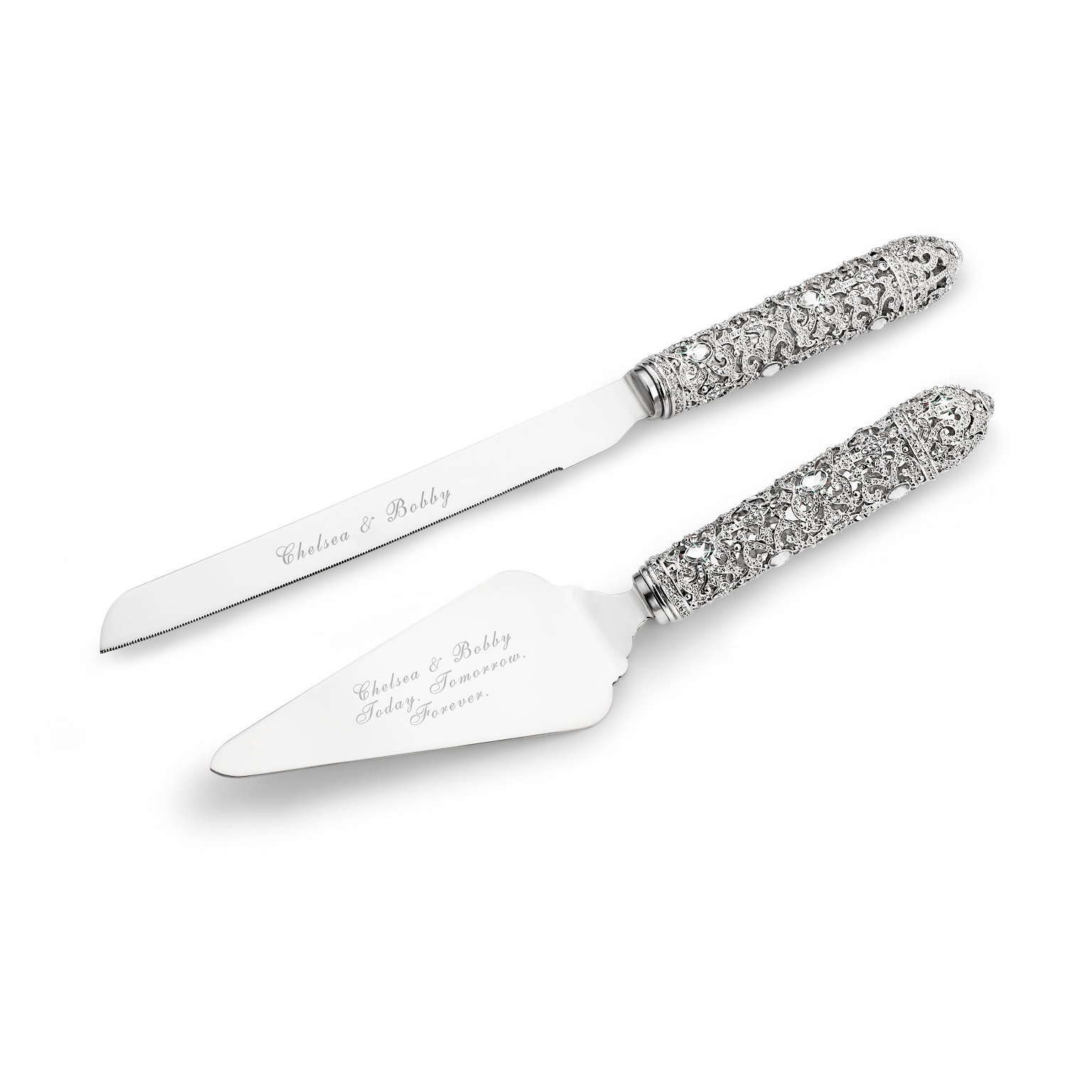 wedding cake knife server set fifth avenue cake servers 8677