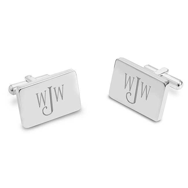 Classically Silver Cuff Links