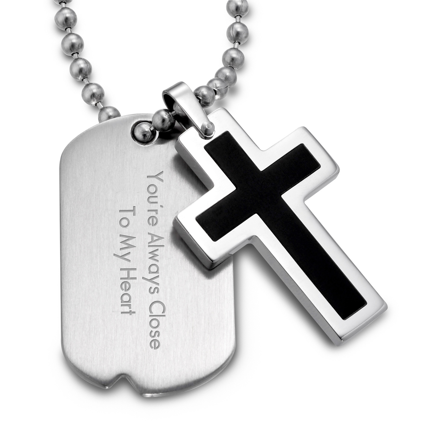 jewellery men baseball and necklace mens uk stainless dp silver co cross pendant steel amazon sterling s chain