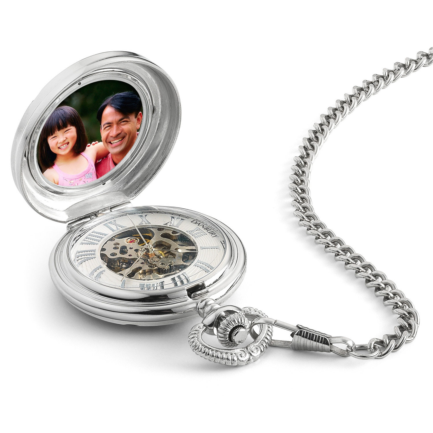 of photo bridal to given chains bride party with inspired pocket engagement pin watches vintage placed