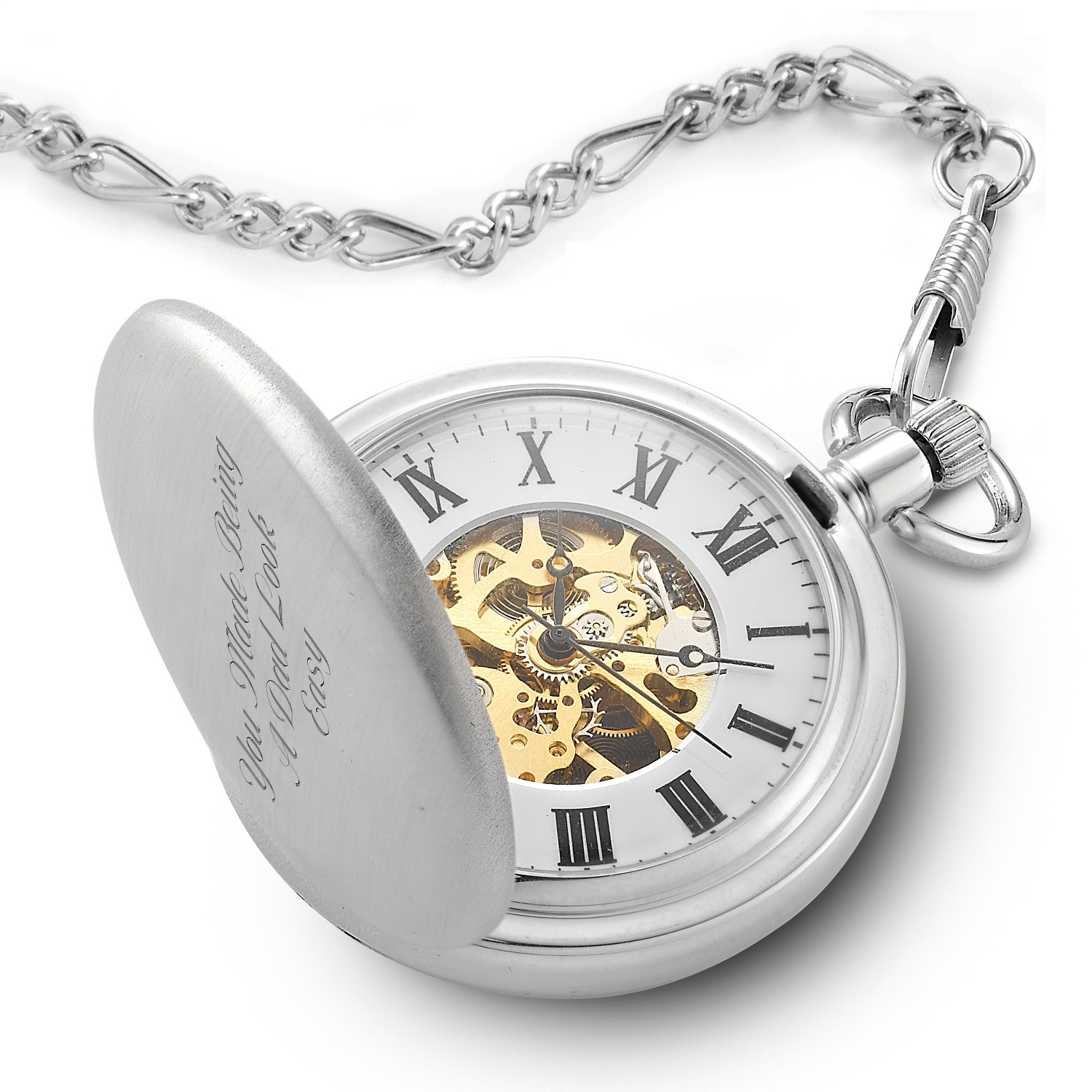 engraved pocket watches at things remembered skeleton pocket watch