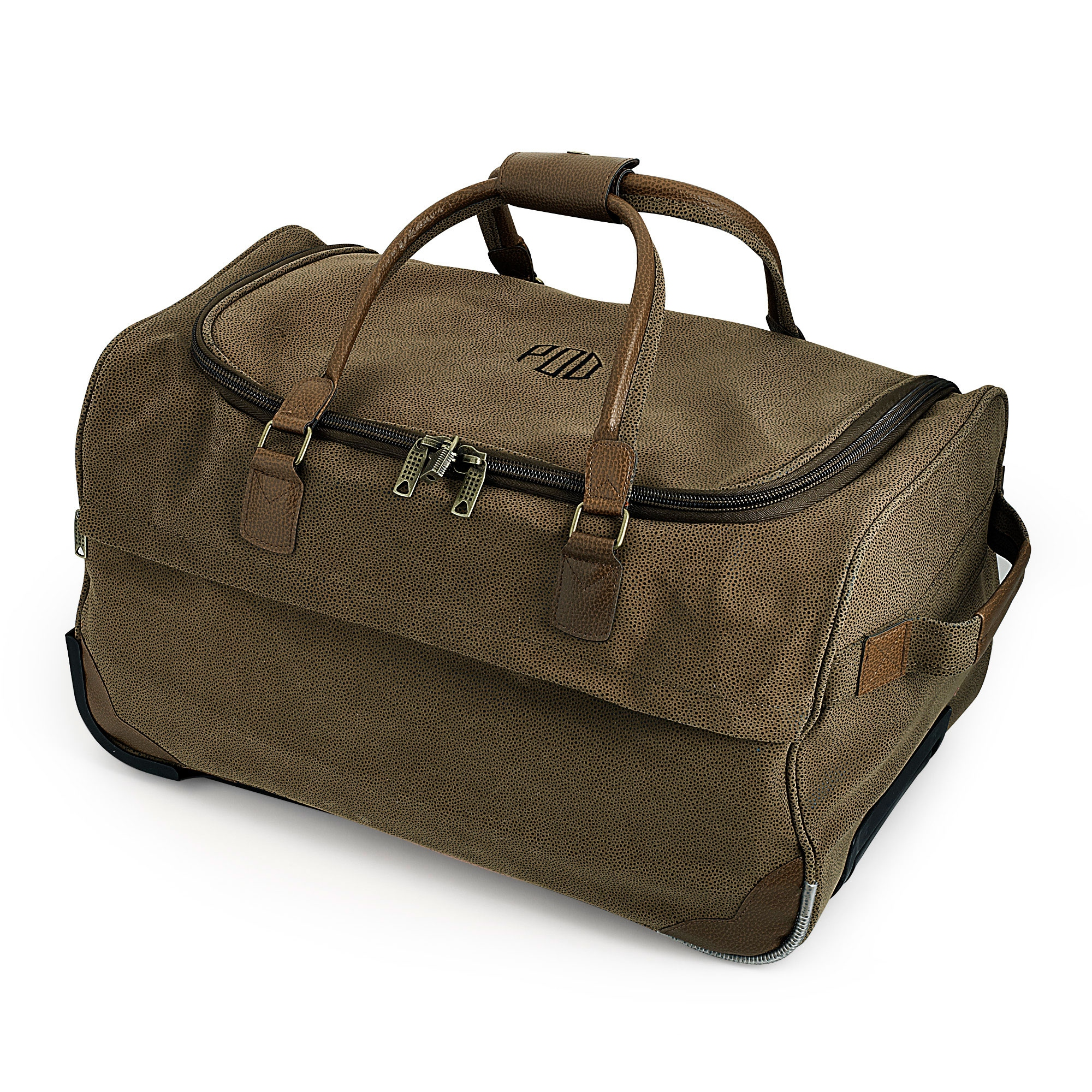 Brown Roller Duffel Bag