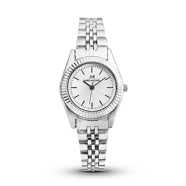 Personalized White Dial Stainless Steel Women's Watch