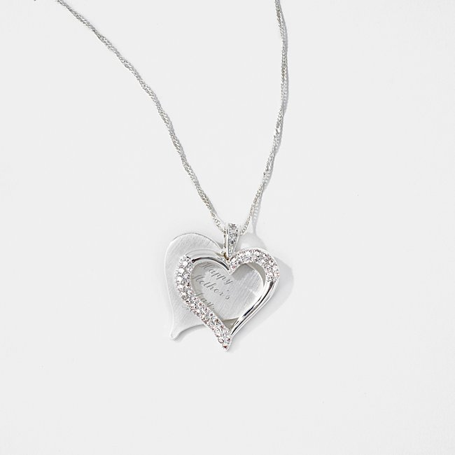 Brushed Heart Necklace,...
