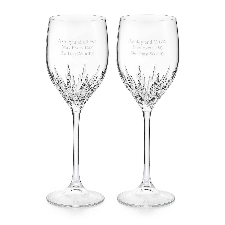 Vera wang by wedgwood duchesse white wine glasses - Vera wang stemware ...