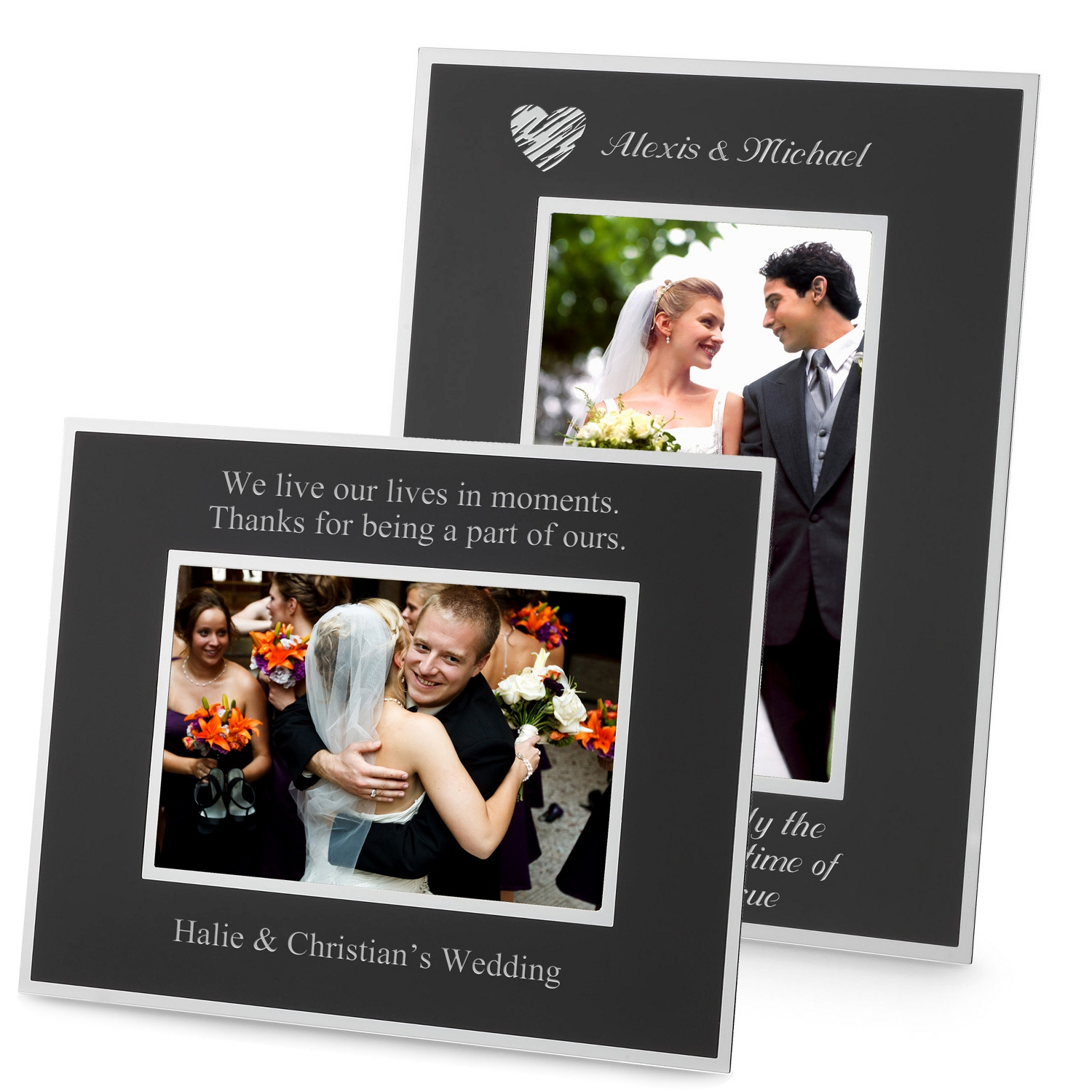 Personalized picture frames at things remembered flat iron black frames jeuxipadfo Images