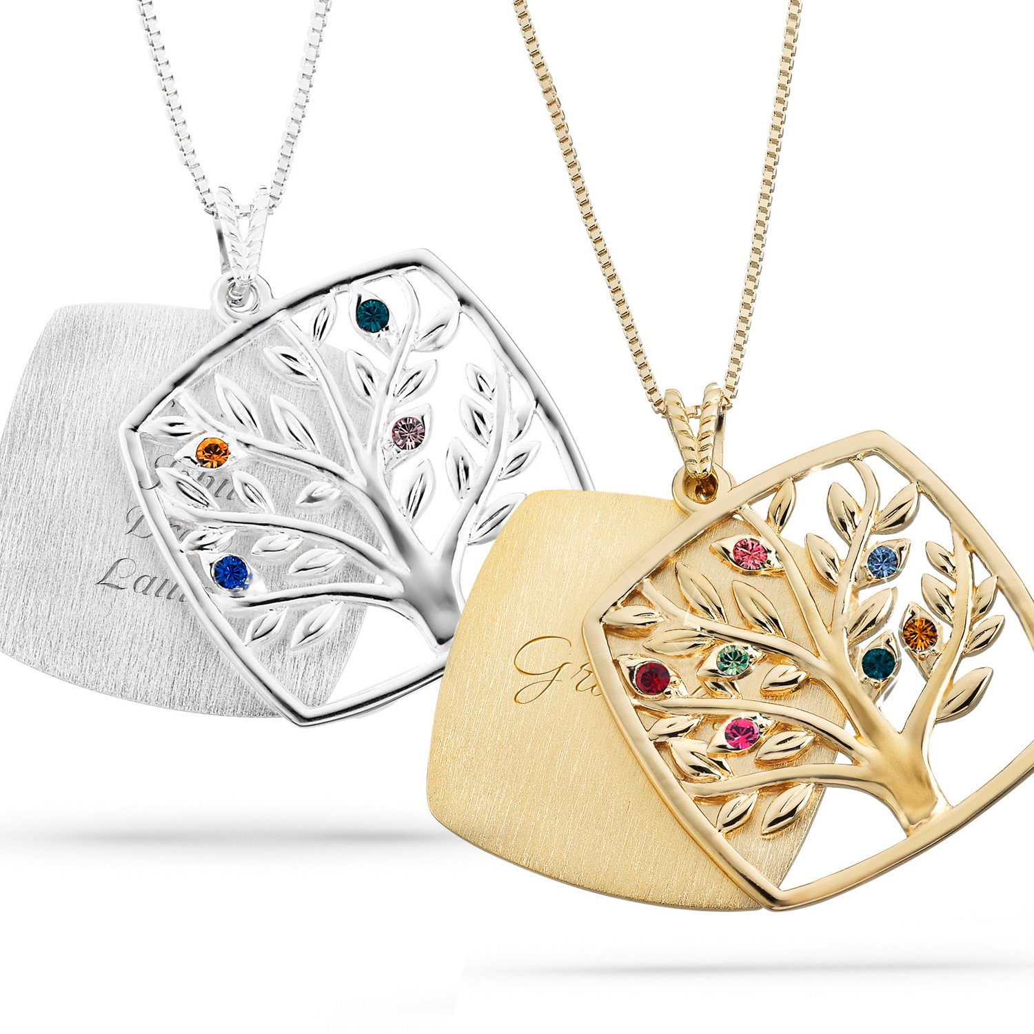 pendant cubic itm sapphire ct love in with gold tree silver plated zirconia necklace family sterling cz floater created of