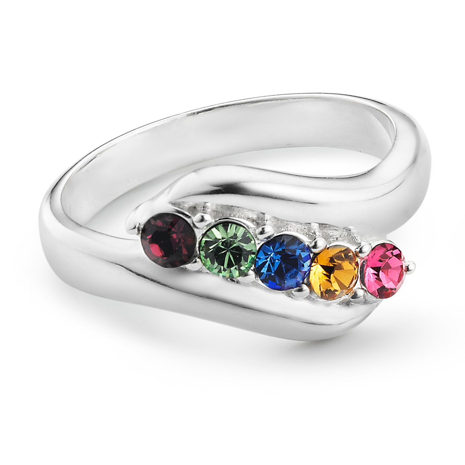 oval birthstone rings silver ring lajerrio jewelry sterling garnet cut