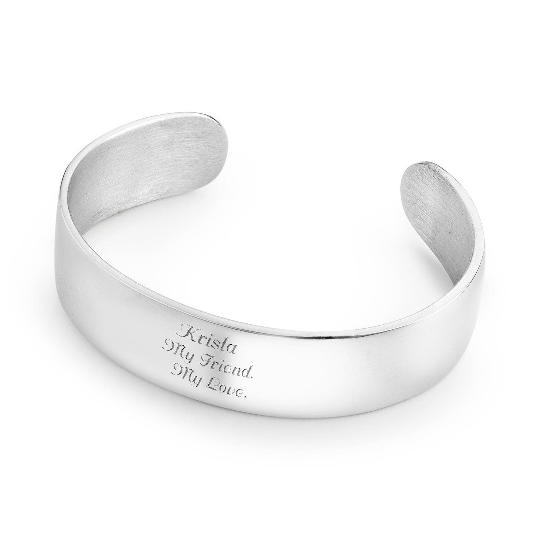 3 4 Pewter Cuff Bracelet