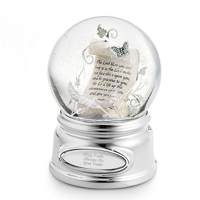 Personalized Inspirational Scroll Water Globe by Things Remembered