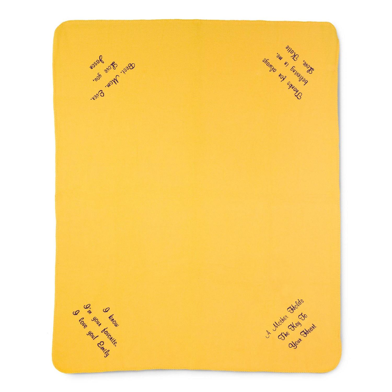 multi corner bright yellow fleece blanket
