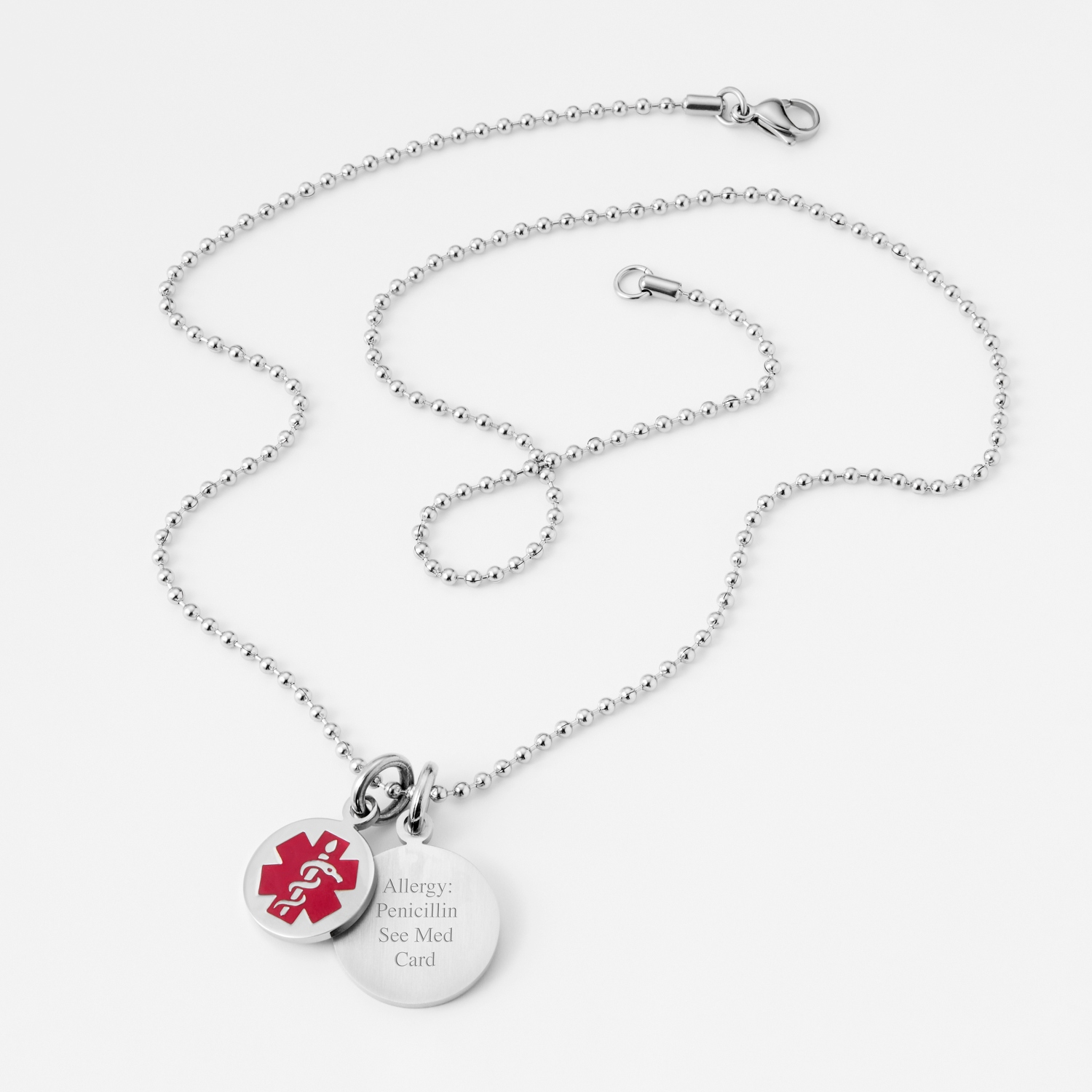Round medical alert necklace aloadofball Image collections