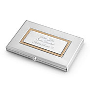Personalized business card holders cases at things remembered classic card case colourmoves