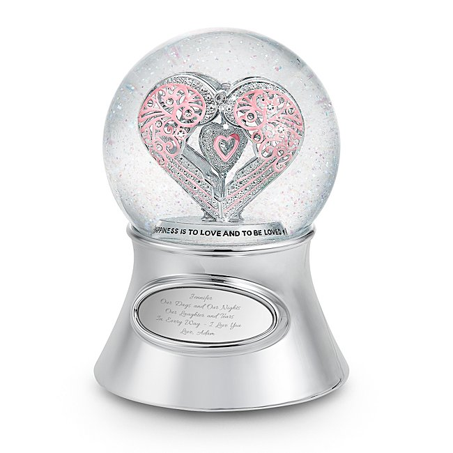 """Say It With Love"""" Musical Snow Glob - Wedding Gifts - Personalized at Things Remembered"""