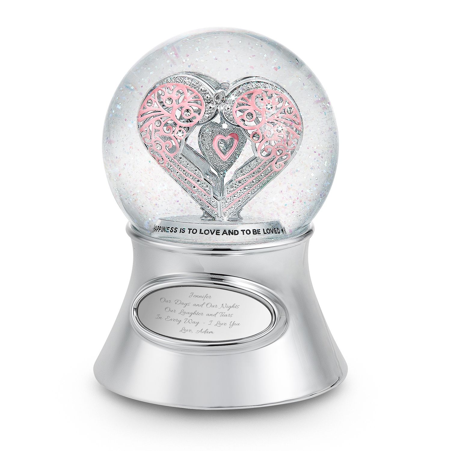 Say It With Love Musical Snow Globe