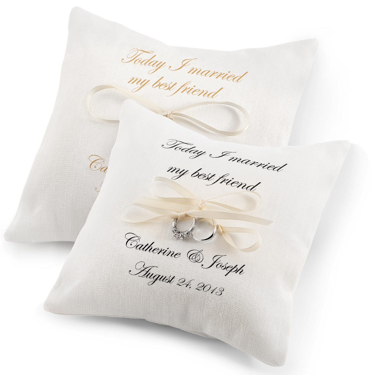 I Married My Best Friend Ring Pillows