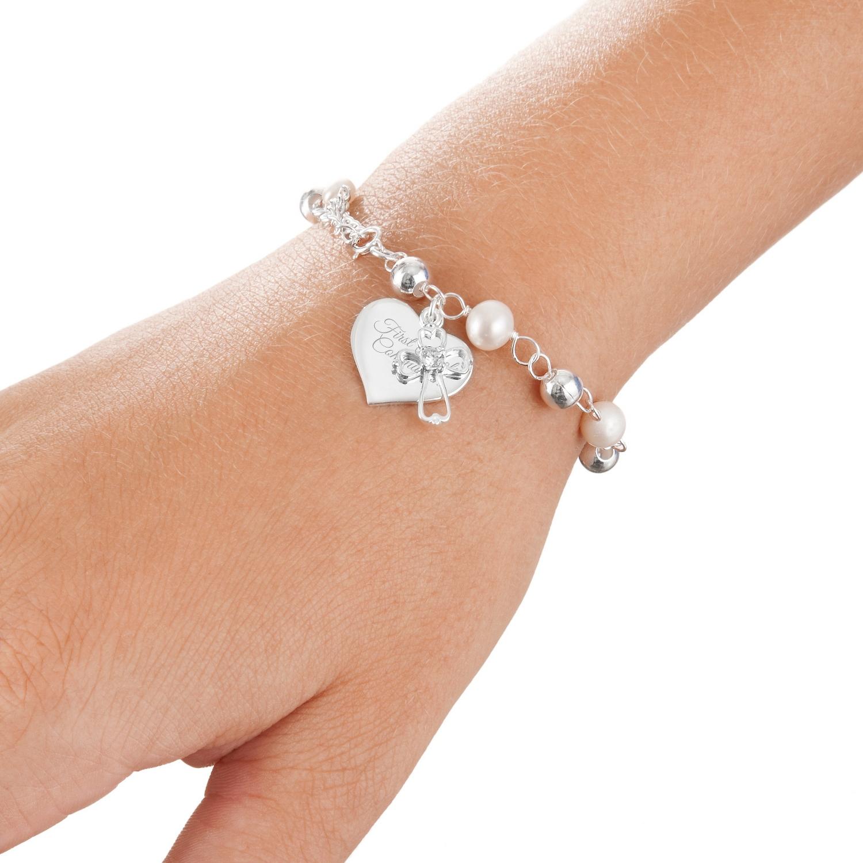 Silver Girls Rosary Bracelet