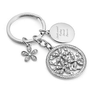 Pierced Flower Key Chain